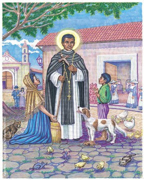 St. Martin of Porres Postcard with Prayer on the back - 2GoodLuck
