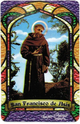 St. Francis of Asis Bilingual Prayer card - 2GoodLuck & My Jaguar Books
