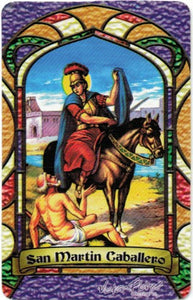 St. Martin Cavalier Prayer card / San Martín Caballero - 2GoodLuck & My Jaguar Books