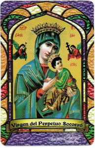 Virgin of Perpetual Assistance Bilingual Prayer card - 2GoodLuck & My Jaguar Books
