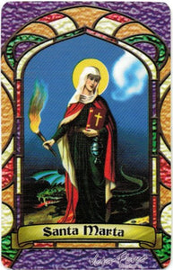St. Marta Bilingual Prayer card - 2GoodLuck & My Jaguar Books