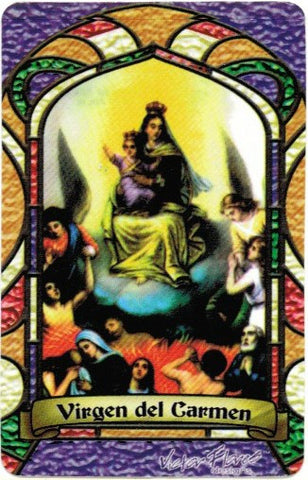 Virgin Carmen Bilingual Prayer card / Virgen del Carmen - Vela de Atracción & My Jaguar Books