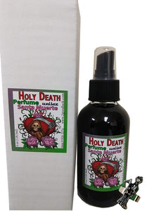 "Holy Death ""Santa Muerte"" Spiritual Unisex Perfume with Pheromones and Amulet"