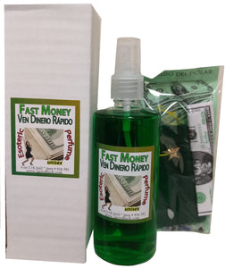 "Fast Money Spiritual ""Ven Dinero Rapido"" Unisex Perfume with Pheromones and Amulet"