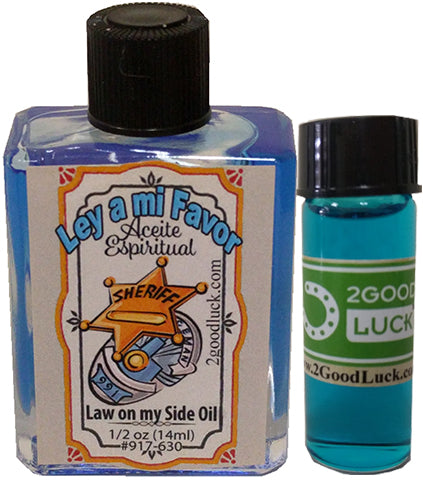 Law on my Side Spiritual Oil  With 1 Dram Perfume Set  / Aceite Ley a mi Favor