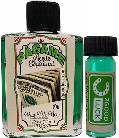 Pay Me Now Oil Spiritual Oil  With 1 Dram Perfume Set / Aceite Págame Ahora