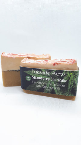 Strawberry Shortcake Vegan Hemp oil soap