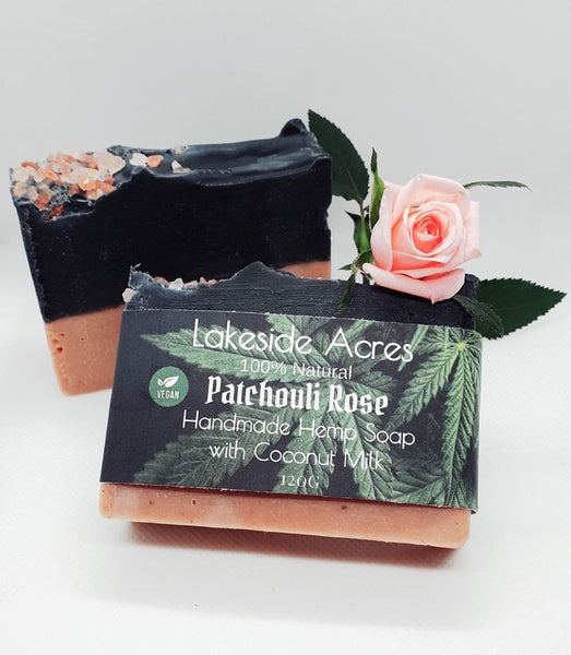 Patchouli Rose Vegan Hemp Soap