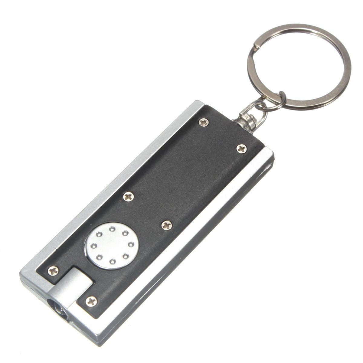 Keychain Mini LED Flashlight with Keyring, Portable Thin & Lightweight - 45 Lumen Micro Light