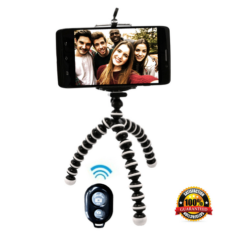 Flexible Tripod Stand with Remote for iPhone Android Galaxy Samsung