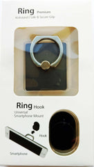Phone Ring for Secure & Safe Grip and Stand - Includes Universal Car Mount - Compact & Slim