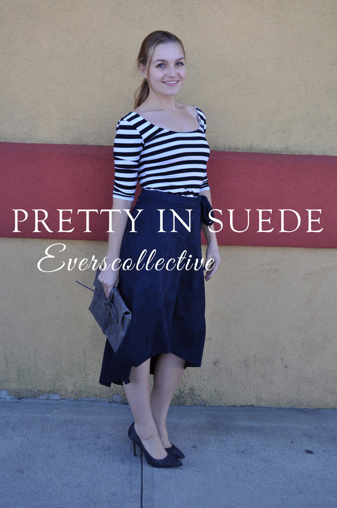 Pretty in Suede! The Skirt You Need in Your Closet!