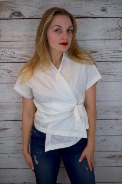 Veronica Wrap Blouse