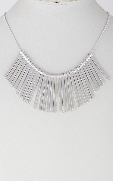 Tribe Silver Necklace