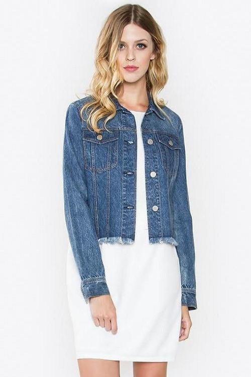 Audrina Cropped Denim Jacket