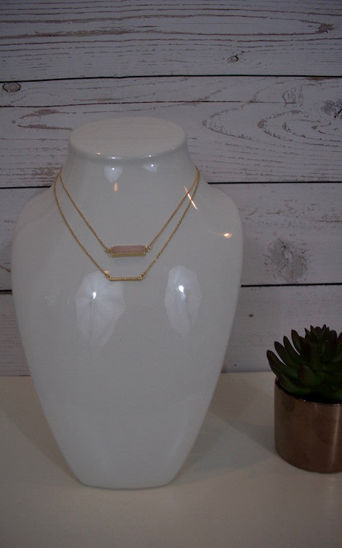 Peach Layered Necklace