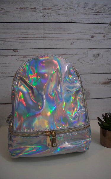 Rocker Silver Iridescent Backpack