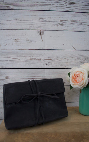 All Tied Up Black Clutch
