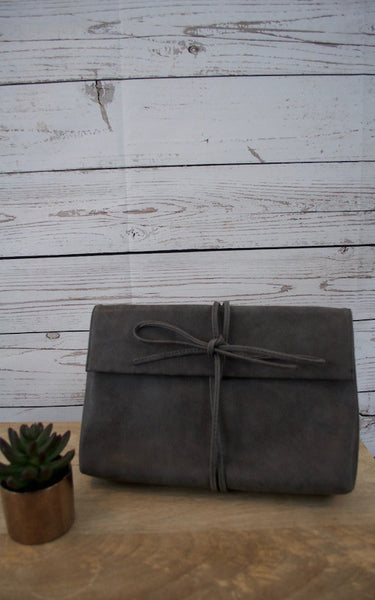 All Tied Up Grey Clutch