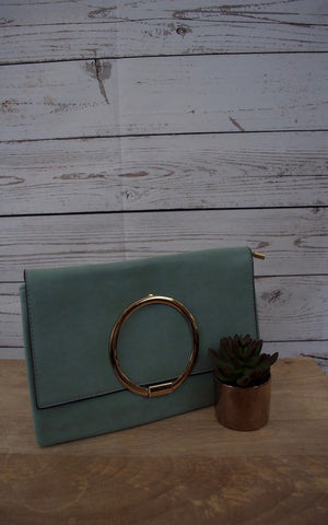 Inner Circle Mint Clutch