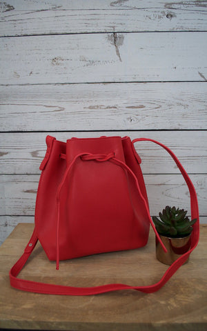 Engine Red Bucket Bag