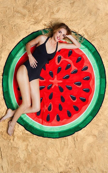 Round Watermelon Beach Throw