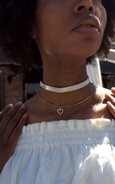 Queen Bae Iridescent Choker