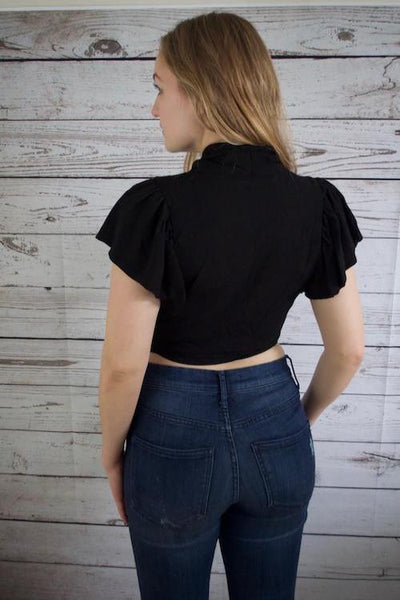 Valerie Wrapped Crop Top