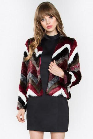 Leona Mixed Fur Coat