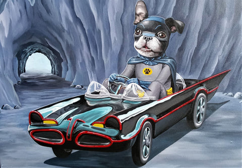 1966 Crime Fighter: Batmobile and Boston Terrier