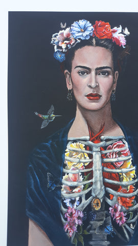Frida with Hummingbird