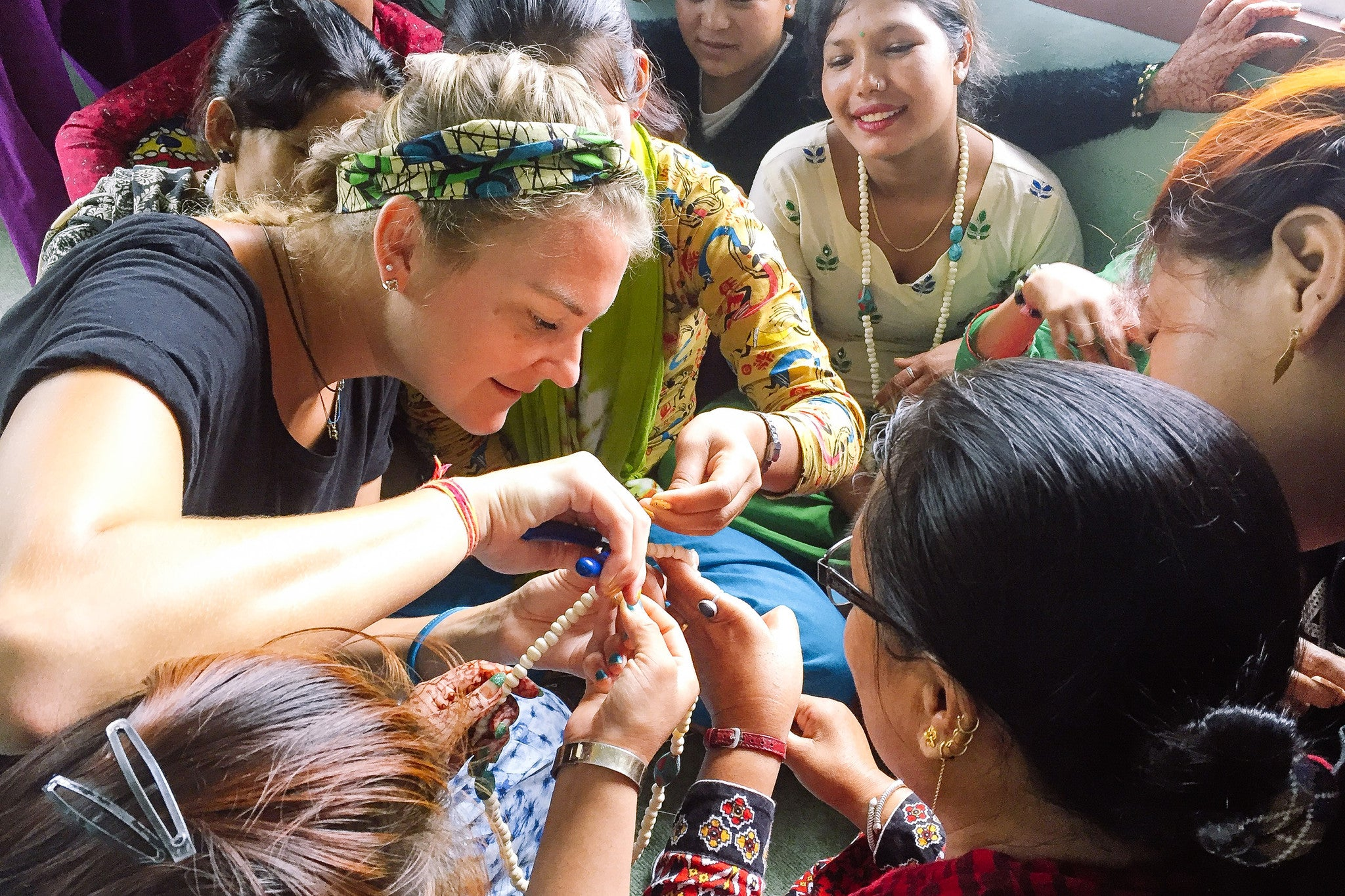 Nepal: Jewelry designer from U.S. visits 'She Has Hope' home as guest teacher