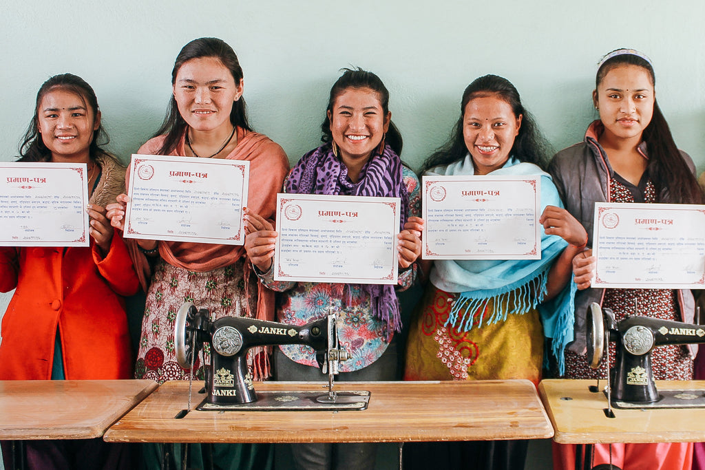 7 trafficking survivors graduate from Nepal rehabilitation home, 11 new rescues enrolled; two U.S. jewelry designers visit as guest teachers