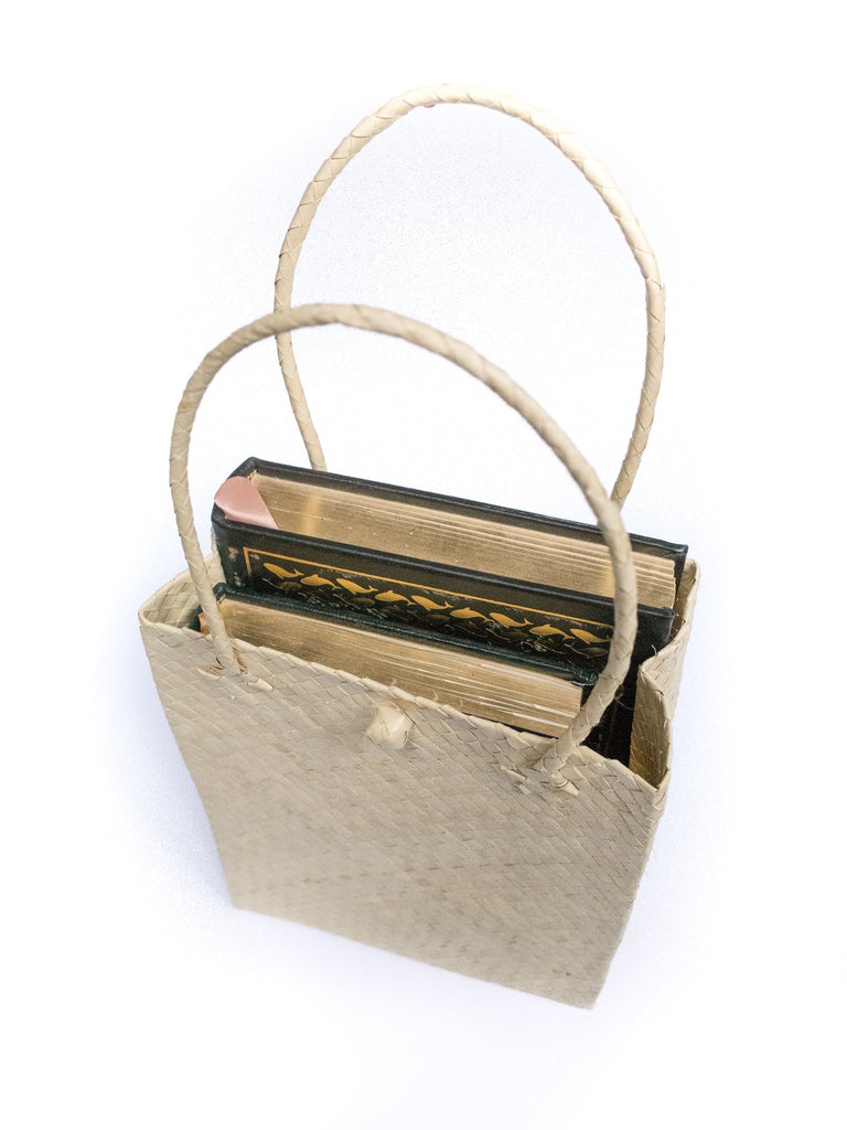 Natural Palm Tote - Medium