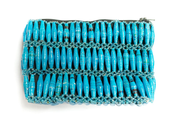 Paper Bead Clutch - Oceanside