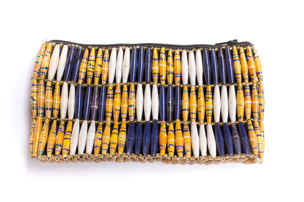 Paper Bead Clutch - Boardwalk