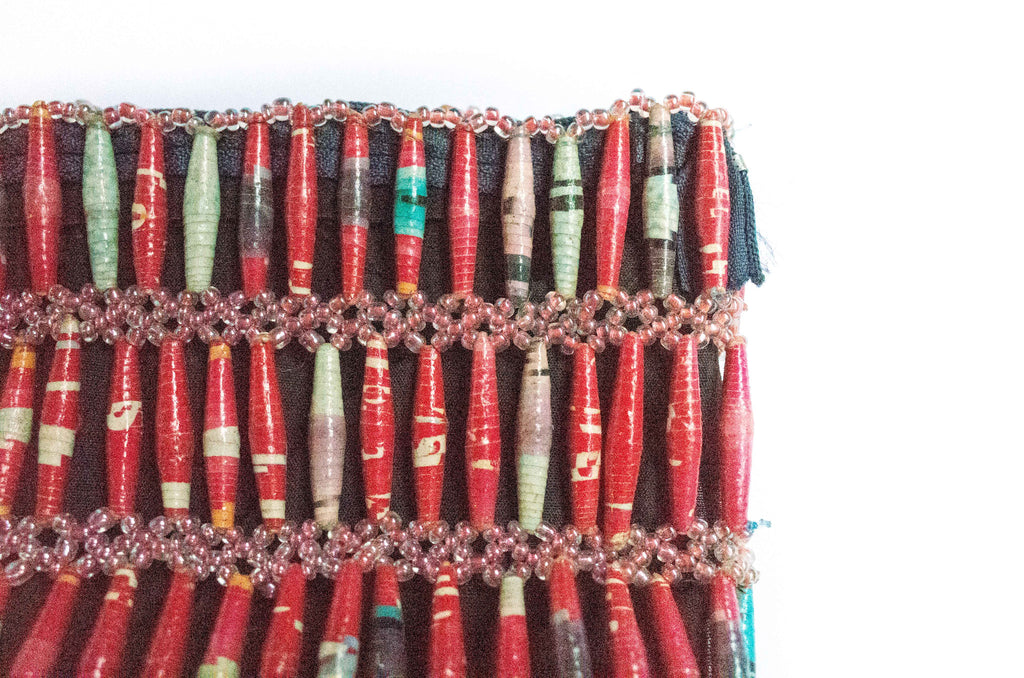 Paper Bead Clutch - Melon Bliss