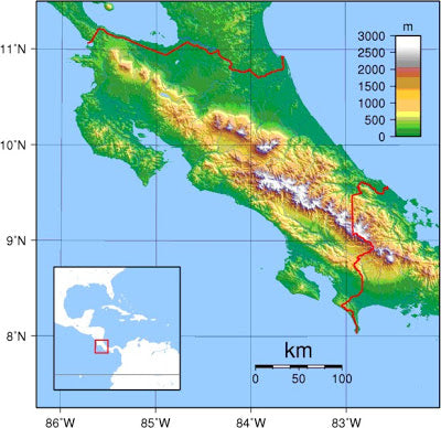 Rica map costa rica map gumiabroncs Image collections
