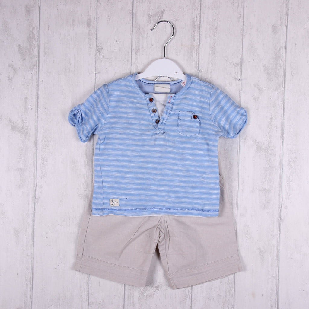 T-Shirt and Shorts Outfit (inc. Zara) 6-9m Boys