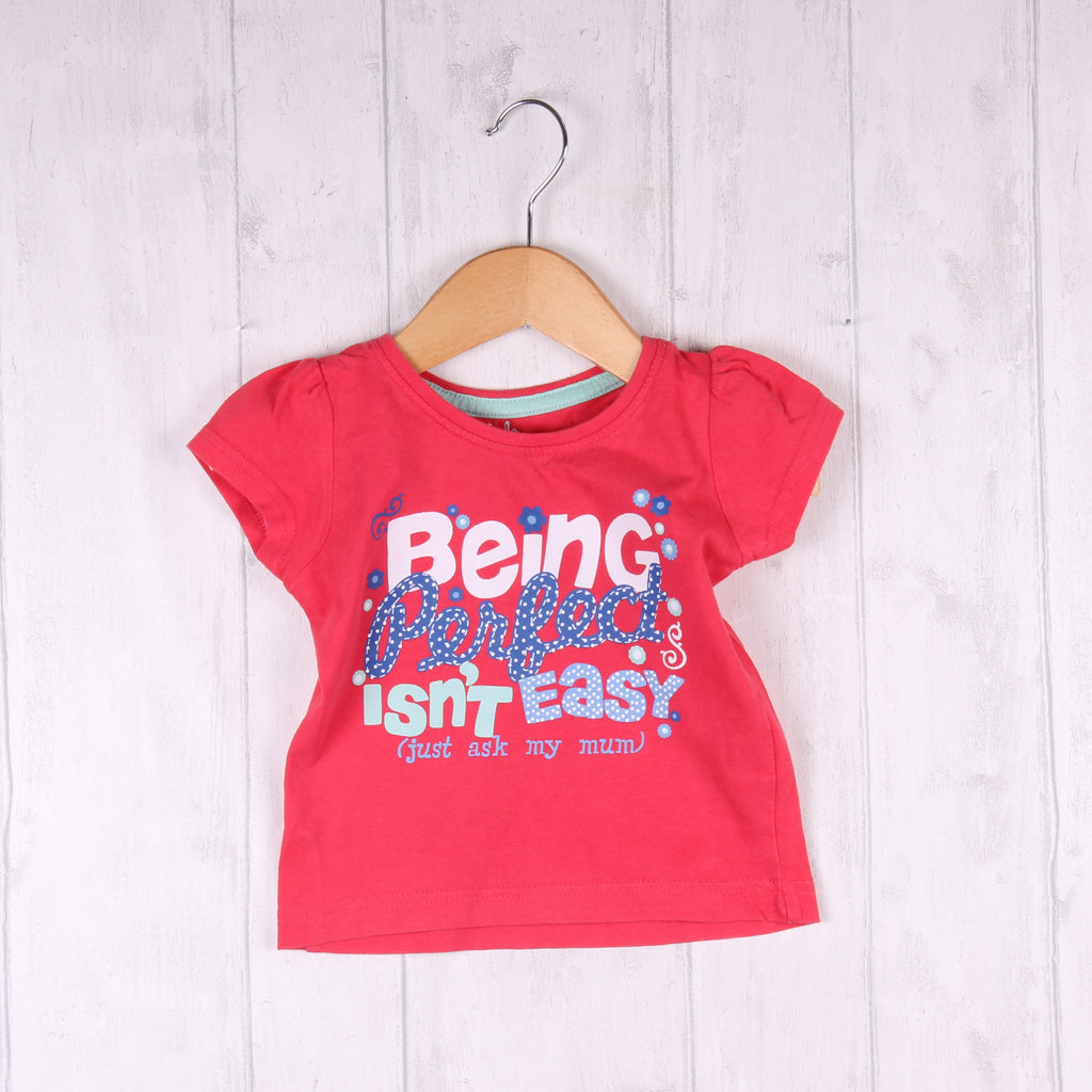 Young Dimension Pink T-Shirt 9-12m Girls