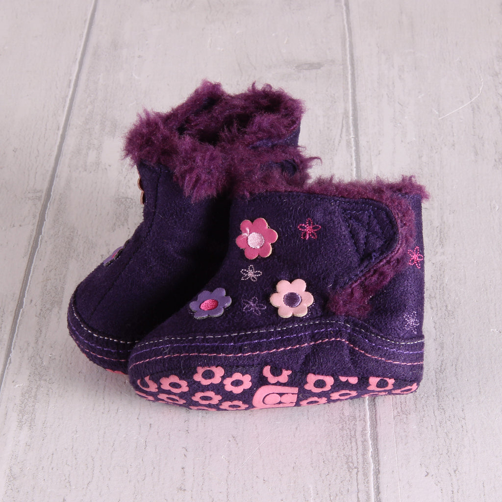 Mothercare Purple Boots (pram shoes) 0-3m Girls
