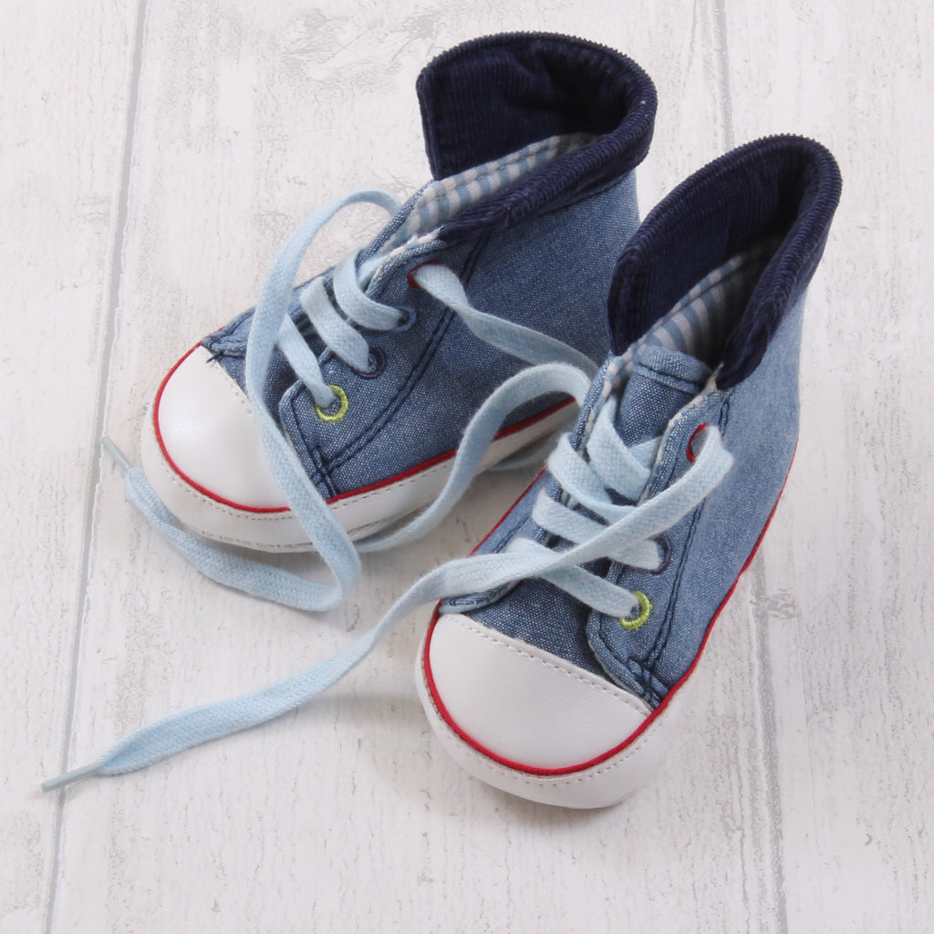George High Top Trainers (Pram Shoe) 3-6m Boys