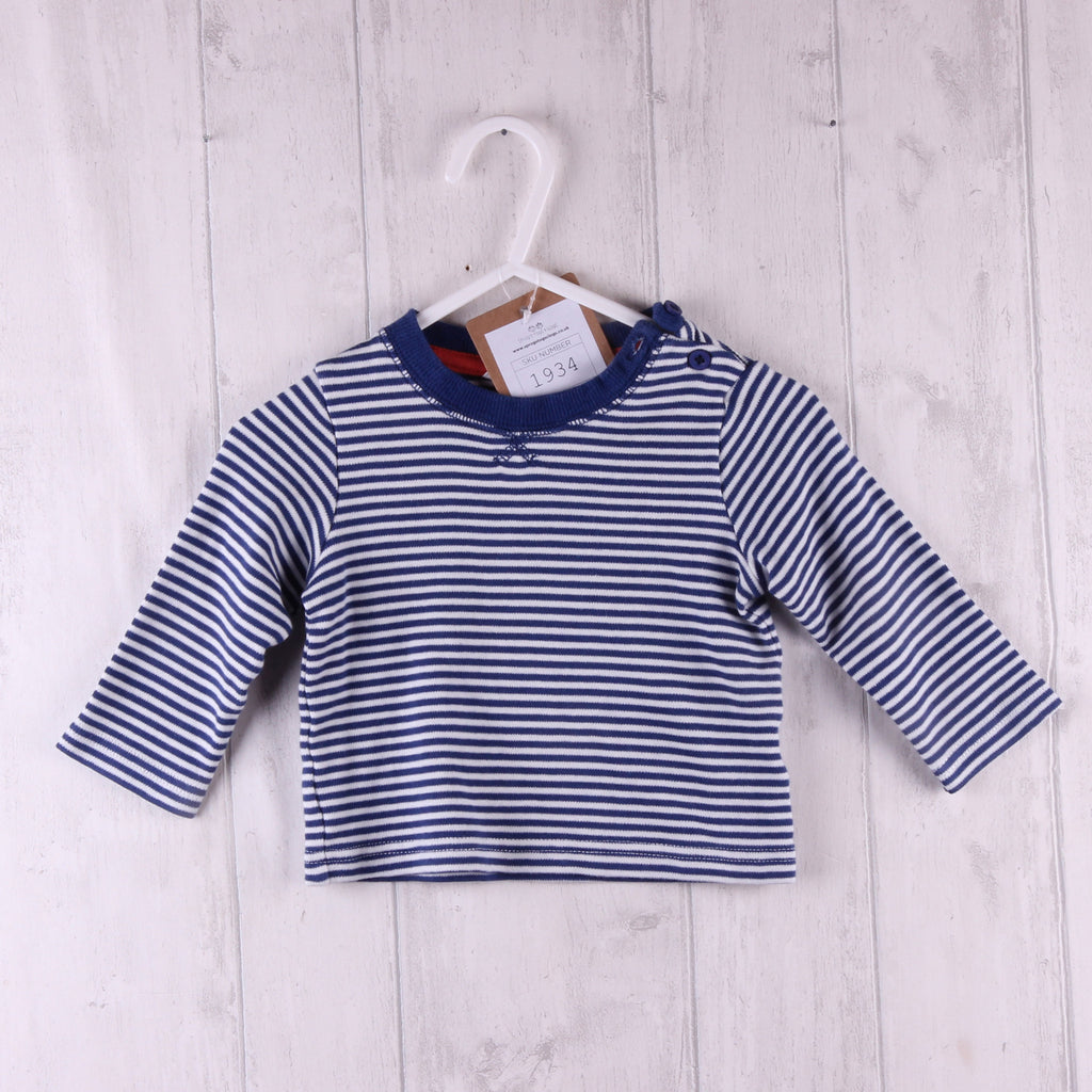 John Lewis Striped Top 3-6m Boys