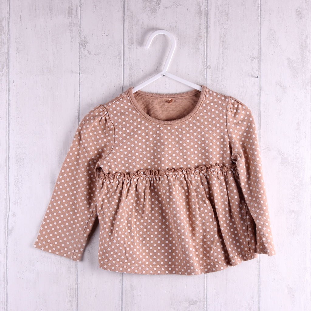 George Polka Dot Top 9-12m Girls