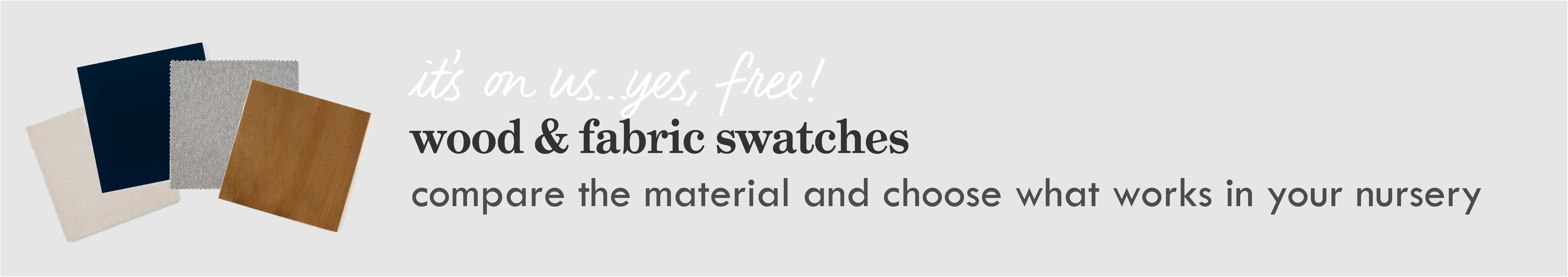 free wood & fabric swatches