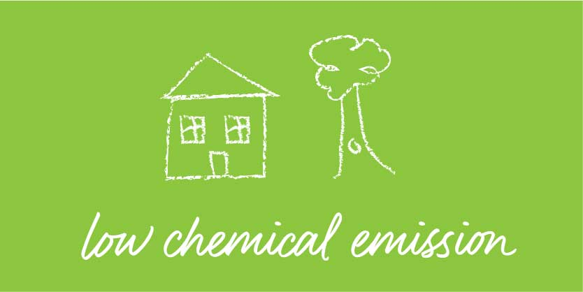 low chemical emissions icon
