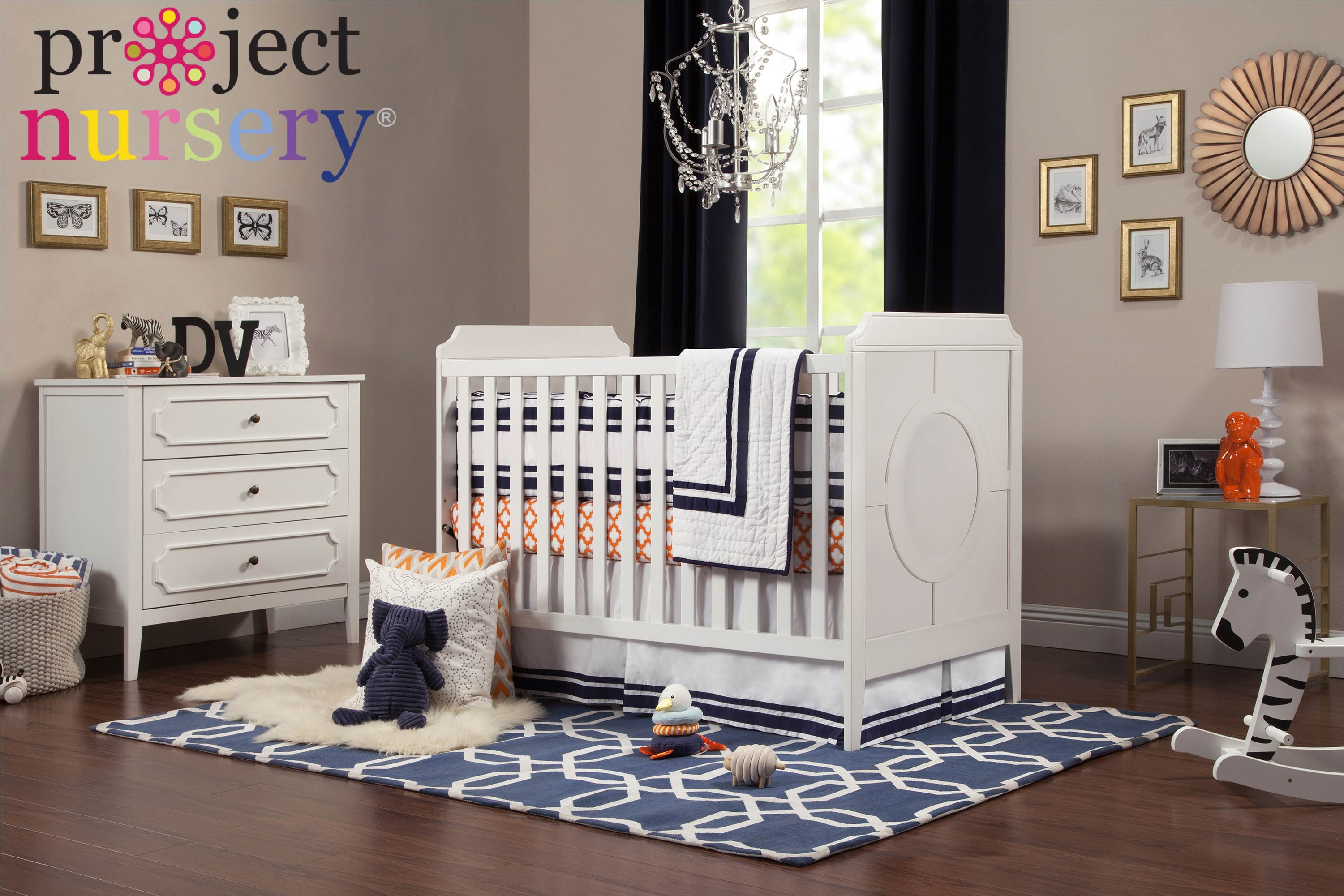 Project Nursery Davinci Baby Poppy Regency Convertible Crib White