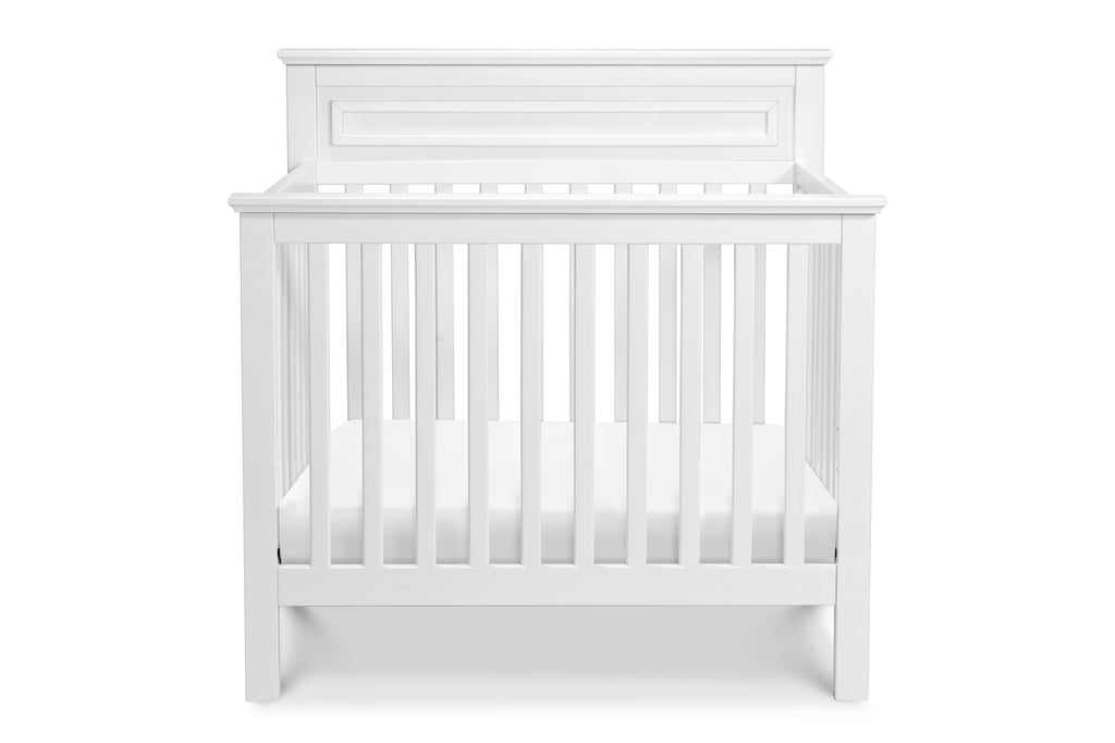 M4398W,Autumn 2-in-1 Mini Crib and Twin Bed In White
