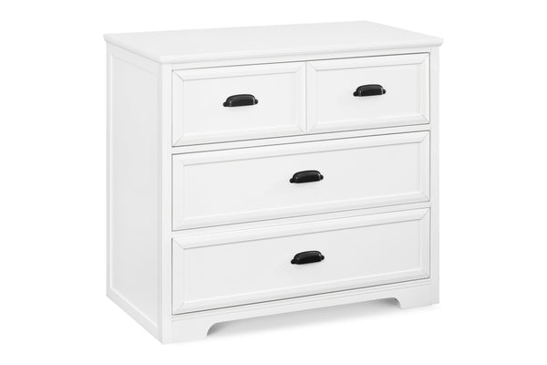 M16123,Charlie Homestead 3-Drawer Dresser KD White