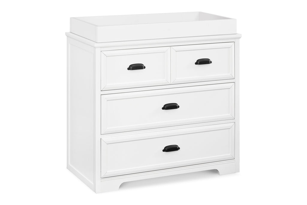 M16123W,Charlie Homestead 3-Drawer Dresser in White